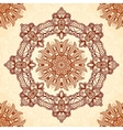 Vintage mandala seamless pattern in Indian mehndi vector image