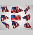 waving usa flag isolated flag ico vector image vector image
