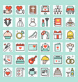 wedding related filled outline icon size 128 px d vector image vector image