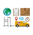 world delivery service vector image