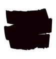 Brush grunge background black vector image