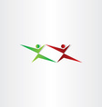 fighting people karate logo icon vector image