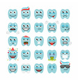 teeth with different emotions vector image