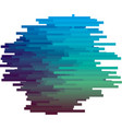 blue color glitch texture vector image
