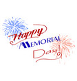 happy memorial day vector image