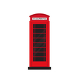 Red retro phone booth flat design vector image