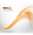 Abstract background Ligth orange curve and wave vector image vector image