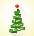 abstract stripe christmas tree vector image