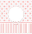 baby pink floral background vector image