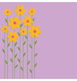 Background yellow flowers vector image vector image