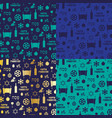 blue and gold passover background patterns vector image
