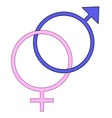 Boy and Girl Symbols vector image vector image