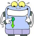 cartoon of a robot machine vector image