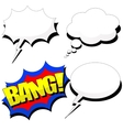 Cartoon speech bubble set with shadows vector image