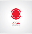 circle technology logo vector image vector image