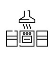 cooker hood line icon concept sign outline vector image