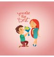 Couple in love 18 vector image vector image
