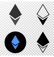crystal eps icon with contour version vector image
