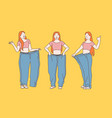 diet weight loss slimming concept vector image vector image