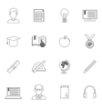 Education Outline Icons vector image vector image