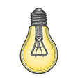 electric lamp sketch engraving vector image vector image