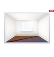 empty room with heating floor and window vector image vector image