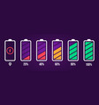 energy level icon charge load phone battery vector image vector image
