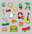 fashion badges patches stickers hippie vector image vector image
