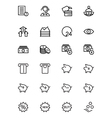 Finance Line Icons 10 vector image vector image