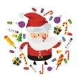 flat Christmas Santa vector image