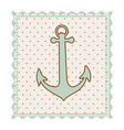 frame with silhouette of anchor with background vector image vector image