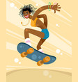 girl on a skateboard vector image