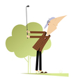Good day for playing golf vector image vector image