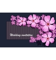 Greeting card with labrador tea watercolor can vector image vector image