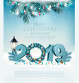 happy new year 2019 background with garland and vector image vector image