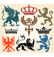 heraldic set vector image vector image
