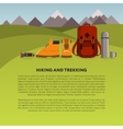 Hiking and trekking background vector image vector image