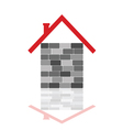 house with gray brick vector image vector image
