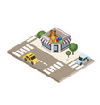 isometric city childish gifts and toys shop geo vector image