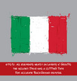 italian flag flat - artistic brush strokes and vector image vector image