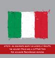 italian flag flat - artistic brush strokes vector image
