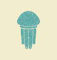 jellyfish flat icon vector image vector image