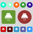 Kitchen hood icon sign 12 colored buttons Flat vector image vector image