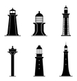 Lighthouses vector image vector image