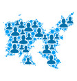 limnos greek island map population people vector image vector image