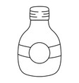 line middle mason jar with circle sticker vector image vector image