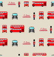 london iconic symbols seamless pattern vector image