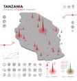 map tanzania epidemic and quarantine emergency vector image vector image