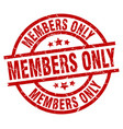 members only round red grunge stamp vector image vector image