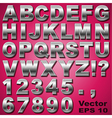 Metal Letters and Numbers vector image vector image